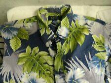 Ono & Company By Liberty House Hawaiian Aloha Reverse Tropical Shirt Large