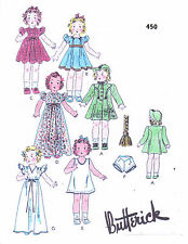 "450 Vintage Slender Doll Pattern - Size 12"" --  Year 1932"