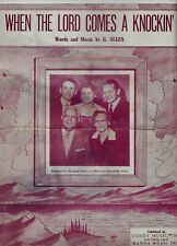 Vintage Sheet Music, When The Lord Comes a Knockin', Copyright 1955,