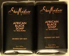 Shea Moisture African Black Soap Bar w/ Shea Butter 2pcs - 8oz Each