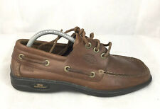 ECCO Men's Water Repellent brown leather Nautical casual boat shoes sz 42 US 11