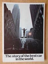 ROLLS ROYCE 1977 Publicity Brochure - Silver Shadow Camargue Phantom V1 Corniche