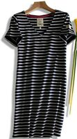 NEW  JOULES UK SIZE 8 EU 36 RIVIERA NAVY BLUE STRIPE COTTON TUNIC DRESS