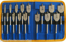 MTL 16pc Flat Bit Set for Wood: 6/8/10/12/14/16/18/20/22/24/26/28/30/32/35/38mm