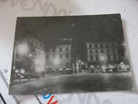 Carte Postale Vintage Frascati (Rome) Piazza Roma Nocturne Shipped 1958
