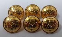 144 Genuine Vintage British Military 9//12 Lancers 40L Large Buttons 1 Gross
