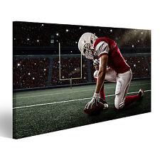 American Football Spieler im Stadion Bild auf Leinwand Poster BMQ-1K