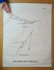 More details for large vintage scouts / sea cadets poster : pulley & tackle - a0 size