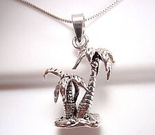 Palm Trees Pendant Sterling Silver Corona Sun Jewelry beach vacation vacation