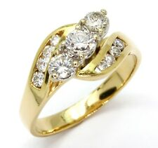 18ct Yellow Gold 0.68cts Diamond Cluster Engagement Ring - Size M