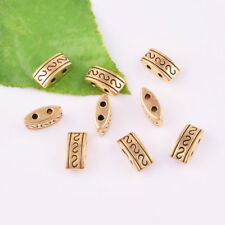40pcs Antique gold Charm Double hole Loose Spacer Beads Jewelry Making 10mm DIY
