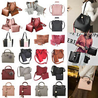 Women PU Leather Handbag Lady Shoulder Bags Tote Purse Messenger Satchel Set LOT