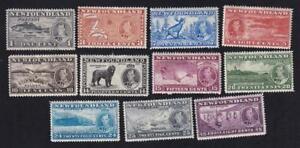 Canada Newfoundland 1937 KGVI Long Coronation, MH full set of 11, sc#233-243