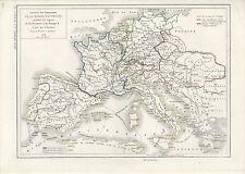 1854 Louis Dussieux Antique Map of Europe - Austrian Possessions