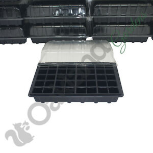 2 X Full Size Propagator Set Lids Seed Trays + 40 Cell Inserts Choose Drainage
