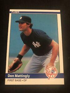 1984 Fleer #131 Don Mattingly New York Yankees NO RESERVE!! NM+ SHARP!