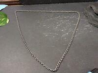 Klassische Silber Kette Erbsenkette Lang Matt Pullover Jugendstil Art Deco