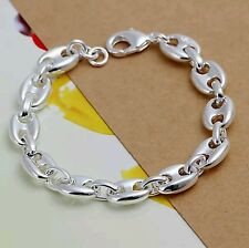 Sterling Silver 925 Plated Anchor Chain Links Bracelet SUMMER!