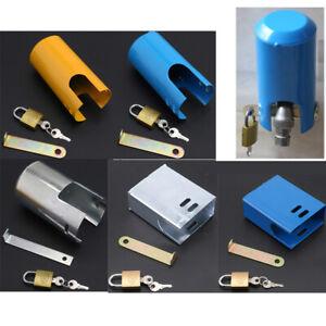 Outdoor Faucet Lock Tap Padlock Key Sink Valve Lockable Anti Theft Cover Protect