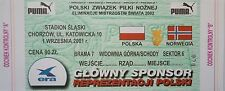 TICKET 1.9.2001 Polska Polen - Norwegen