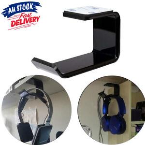 Mount Holder Hook Dual Headset Tape New Clever Headphone Stand Hanger Under Desk