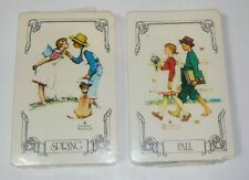 2 TRUMP Norman Rockwell Four Seasons Playing Cards Sealed Packs