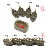 UK INLINE METHOD CARP FISHING FEEDER MOULD TACKLE ACCESSORIES WITH LEAD WEIGHT
