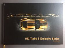 2017 Porsche 911 Turbo S Hardbound Sales Brochure RARE!!! Awesome L@@K