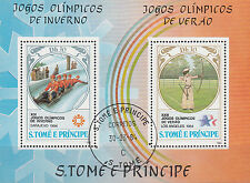 Sao Tome e Principe Nr. Bl. 142 A (877-878) Olympia 1984 Sarajevo u. Los Angeles