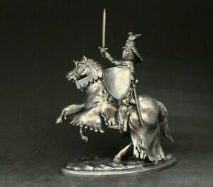 Horseman Knight Tin toy soldier 54 mm 1/32 scale BLACKENED