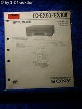 Sony Service Manual TC EX90 / EX100 Cassette Deck (#2645)