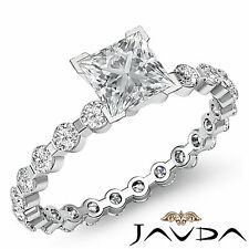 Diamante Talla Princesa Sólido Compromiso GIA F VS2 Engastados Anillo 14k