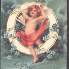 """O"" CLAPSADDLE ALPHABET ANGEL,CHERUB,SMALL REPRODUCTION CARD"