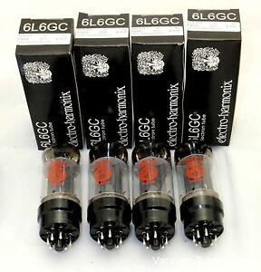 Electro Harmonix 6L6EH 6L6GC 6L6 Vacuum Tubes Platinum Matched Quad  EH