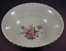 """Vintage Japan Hand Painted Bowl Flowers with Gold Trim 7"""" in Diameter"""