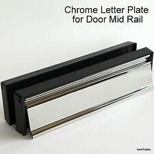 10 inch MIRROR POLISH CHROME Stainless Letter Box Plate Letterbox uPVC Door MID