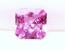 1.23 Cts Natural Loose Gem Square Radiant Asscher Cut Pink Sapphire   6.4x6.4MM