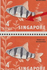"SINGAPORE - 1962 4c. Black and orange-red ""Spot on Fin"" Variety - UM / MNH"