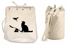 BANKSY CAT & MOUSE DUFFLE BAG College Rucksack Gym Beach Backpack Sports