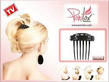NEW AS SEEN ON TV PONILOX BLACK TWIST PIVOTING HAIR COMB FOR FABULOUS UPDOS