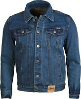 NEW MENS DENIM JEAN JACKET  Classic Western Style Trucker Jacket S TO 5XL