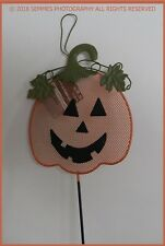 Halloween Yard Stake Decoration Pumpkin Jack o Lantern Metal New as shown