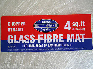 Fibreglass Chopped Strand Mat CSM Glass Fibre Resin GRP Matting