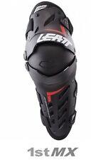 Leatt Dual Axis Knee & Leg Guards Motocross Pair Adult Black Red Small Medium