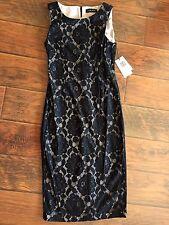 Ivanka Trump Women's Lace Dress Floral Pattern Black Sleeveless Size 4 NWT OOP