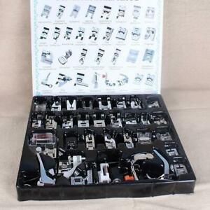 Domestic Sewing Machine Presser Foot Feet Set 32pcs for Brother Janome Singer