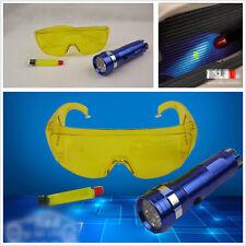 Automotive UV Detector de Fugas A/C Conjunto de gas líquido Flash LED Luz y gafas de seguridad