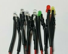 3mm Pre Wired 12v Led Built In Resistors Whiteredgreenand Yellow Usa Made