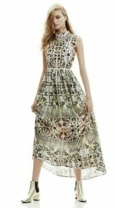 WE ARE KINDRED - Giselle Dress - Maxi pressed metal print - size 10