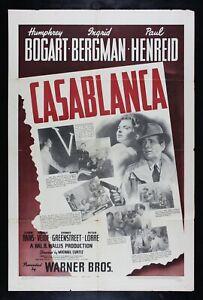CASABLANCA ✯ CineMasterpieces 1942 ORIGINAL BOGART HOLLYWOOD MOVIE POSTER